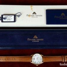Relojes: RELOJ DE PULSERA. MAURICE LACROIX. CUARZO. CAJA CHAPADA EN ORO 10 MICRONS. AÑOS 80.. Lote 75694247