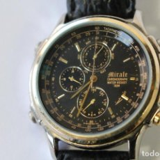Relojes: RELOJ MIRALE CHRONOGRAPH - JAPAN - STAINLESS STEEL BLACK. Lote 75946695