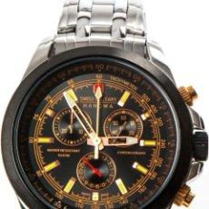 Relojes: SWISS MADE MILITARY ACERO INOXIDABLE CHRONOGRAPH RELOJ NUEVO CHRONO 548€. Lote 76582911