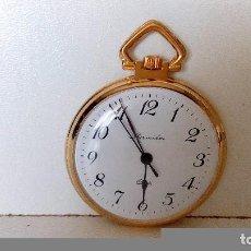Relojes: RELOJ DE BOLSILLO THERMIDOR CAJA METAL DORADO MEDIDA 37,42 MM PROCEDE STOCK DE RELOJERIA. Lote 78051081