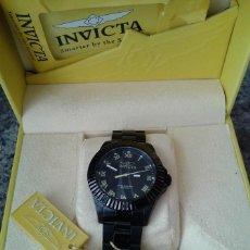 Relojes: ELEGANTE RELOJ DE LA MARCA INVICTA EN ACERO TODO NEGRO PVP $795 MUY BUEN ESTADO. Lote 79325993