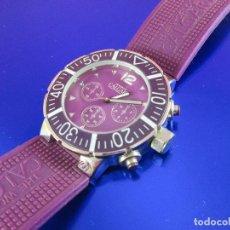 Relojes: RELOJ-CALGARY-UNISEX-FUNCIONANDO-VIOLETA-VER FOTOS-BUEN ESTADO. Lote 80316409