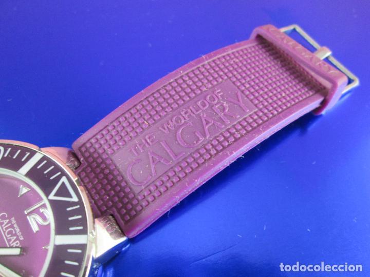 Relojes: reloj-calgary-unisex-funcionando-violeta-ver fotos-buen estado - Foto 3 - 80316409