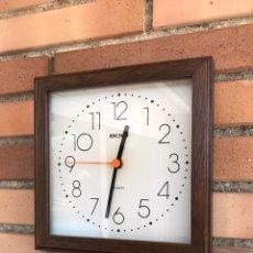 Relojes: RELOJ PARED BOSI MADERA ALEMÁN. Lote 80411699