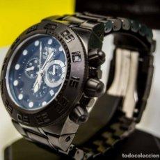 Relojes: INVICTA SUBAQUA SPORT RELOJ DE ACERO DIAL NEGRO CRONÓGRAFO SUIZO $1995. Lote 81132716