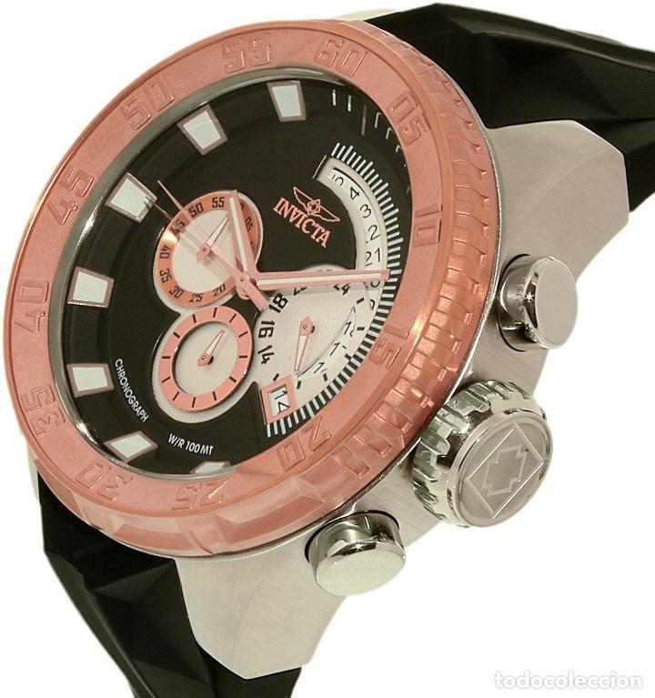 Relojes: Invicta Force Chrono correa de silicona negro acento de Tono Rosa W/R 100 metros Box estanco - Foto 2 - 81200444