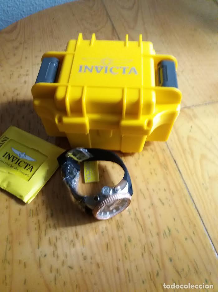 Relojes: Invicta Force Chrono correa de silicona negro acento de Tono Rosa W/R 100 metros Box estanco - Foto 4 - 81200444
