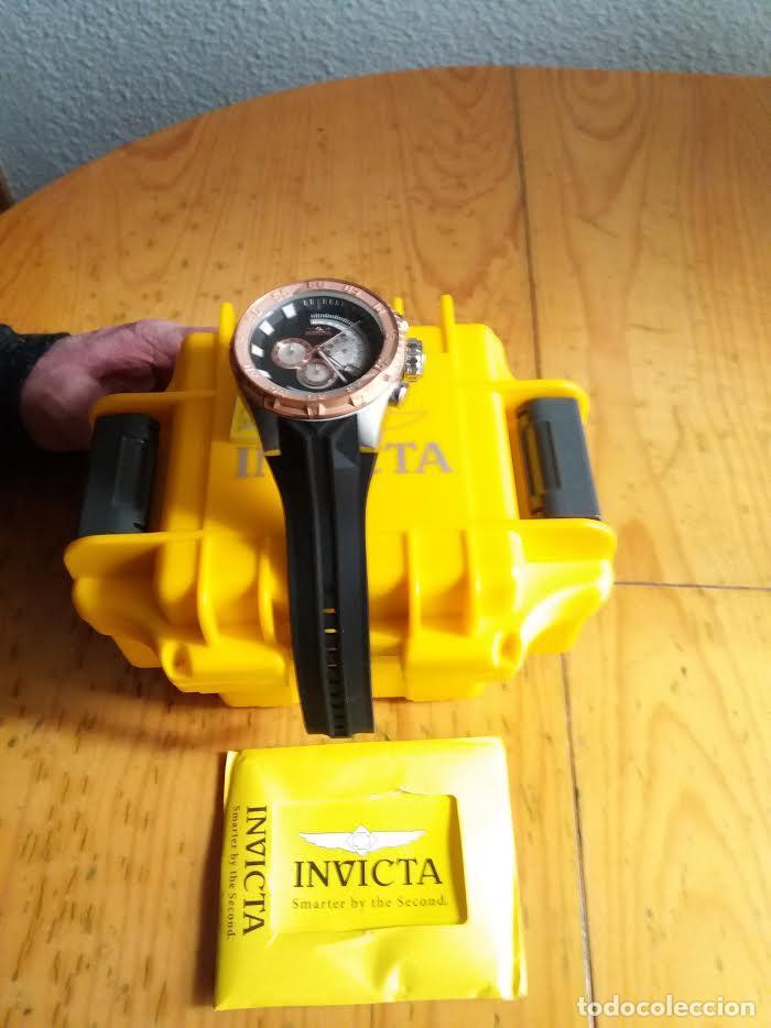 Relojes: Invicta Force Chrono correa de silicona negro acento de Tono Rosa W/R 100 metros Box estanco - Foto 5 - 81200444