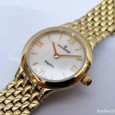 Relojes: CANDINO SUIZO CRISTAL DE ZAFIRO DE DAMA. Lote 81875576