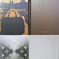Relojes: LOUIS VUITTON X2 LIBROS: RELOJES + CATÁLOGO GENERAL (NUNCA USADOS). Lote 82006272