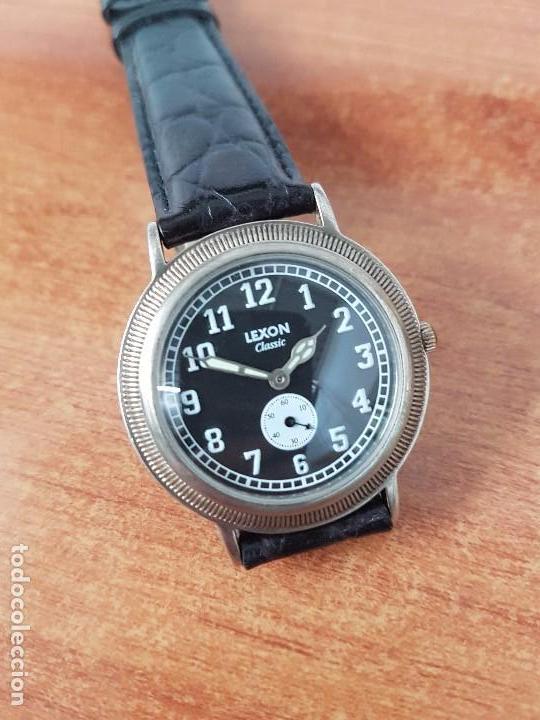 Relojes: Reloj de caballero de cuarzo Luxon classic cuarzo con segundero a las 6 horas correa de cuero negra - Foto 3 - 82036936