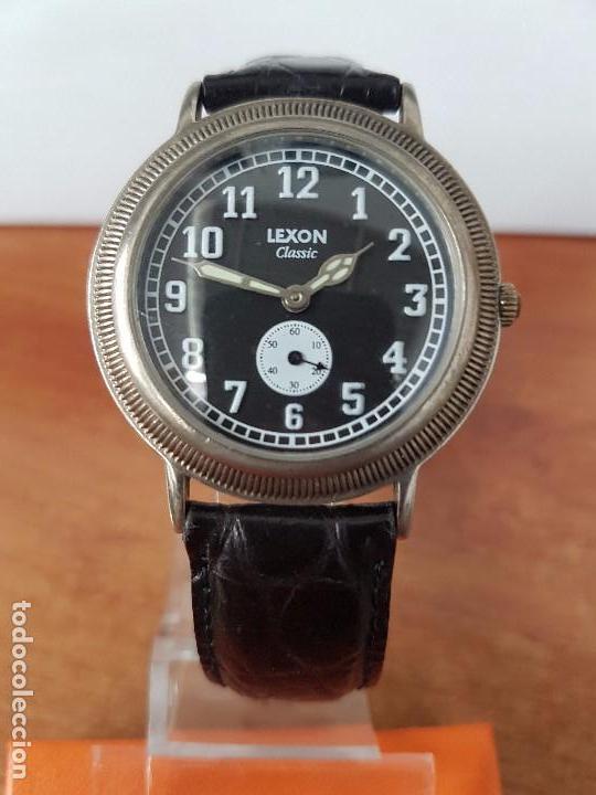 Relojes: Reloj de caballero de cuarzo Luxon classic cuarzo con segundero a las 6 horas correa de cuero negra - Foto 4 - 82036936