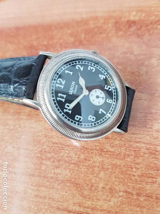 Relojes: Reloj de caballero de cuarzo Luxon classic cuarzo con segundero a las 6 horas correa de cuero negra - Foto 5 - 82036936