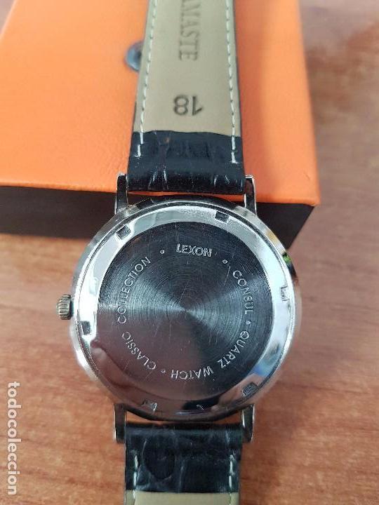 Relojes: Reloj de caballero de cuarzo Luxon classic cuarzo con segundero a las 6 horas correa de cuero negra - Foto 7 - 82036936