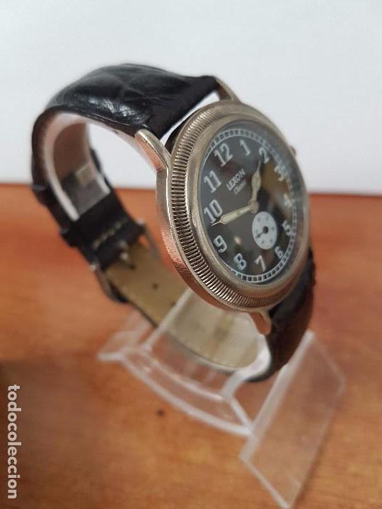 Relojes: Reloj de caballero de cuarzo Luxon classic cuarzo con segundero a las 6 horas correa de cuero negra - Foto 8 - 82036936