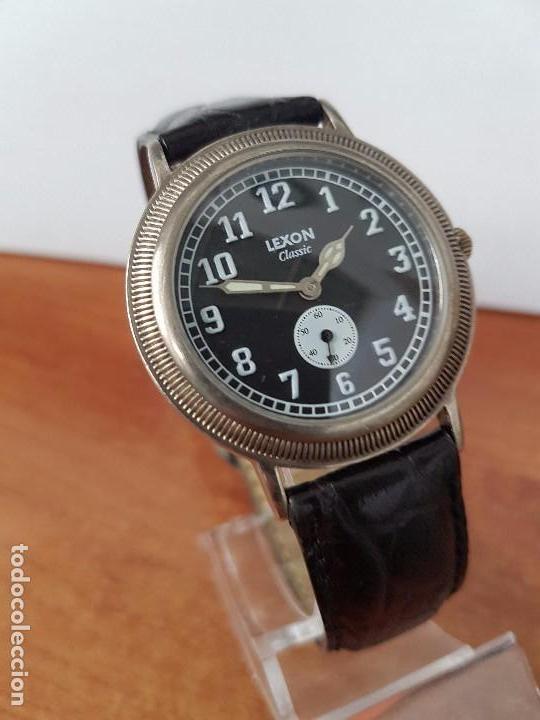 Relojes: Reloj de caballero de cuarzo Luxon classic cuarzo con segundero a las 6 horas correa de cuero negra - Foto 10 - 82036936