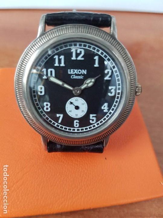 Relojes: Reloj de caballero de cuarzo Luxon classic cuarzo con segundero a las 6 horas correa de cuero negra - Foto 12 - 82036936
