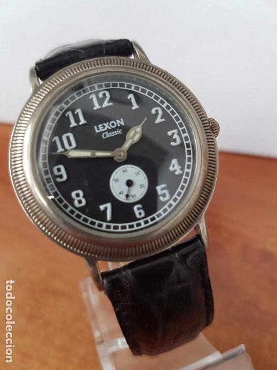RELOJ DE CABALLERO DE CUARZO LUXON CLASSIC CUARZO CON SEGUNDERO A LAS 6 HORAS CORREA DE CUERO NEGRA (Relojes - Relojes Actuales - Otros)
