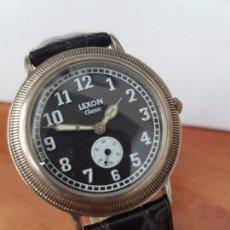 Relojes: RELOJ DE CABALLERO DE CUARZO LUXON CLASSIC CUARZO CON SEGUNDERO A LAS 6 HORAS CORREA DE CUERO NEGRA. Lote 82036936