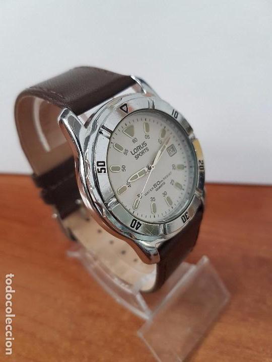 566d677380bc Relojes  Reloj de caballero cuarzo marca LORUS de acero