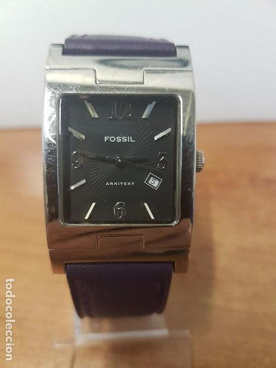 Relojes: Reloj de caballero Analógico de cuarzo marca FOSSIL con calendario a las cuatro horas, correa cuero - Foto 4 - 82120508
