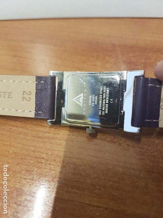 Relojes: Reloj de caballero Analógico de cuarzo marca FOSSIL con calendario a las cuatro horas, correa cuero - Foto 5 - 82120508