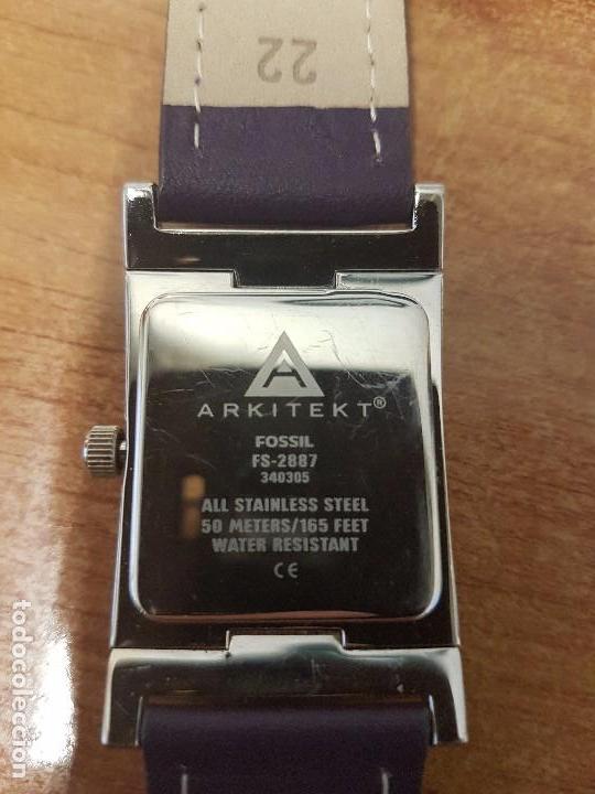 Relojes: Reloj de caballero Analógico de cuarzo marca FOSSIL con calendario a las cuatro horas, correa cuero - Foto 6 - 82120508