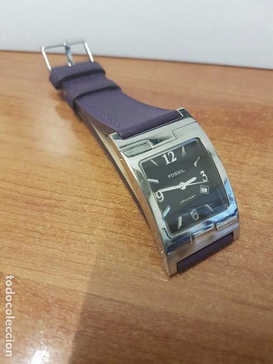 Relojes: Reloj de caballero Analógico de cuarzo marca FOSSIL con calendario a las cuatro horas, correa cuero - Foto 7 - 82120508