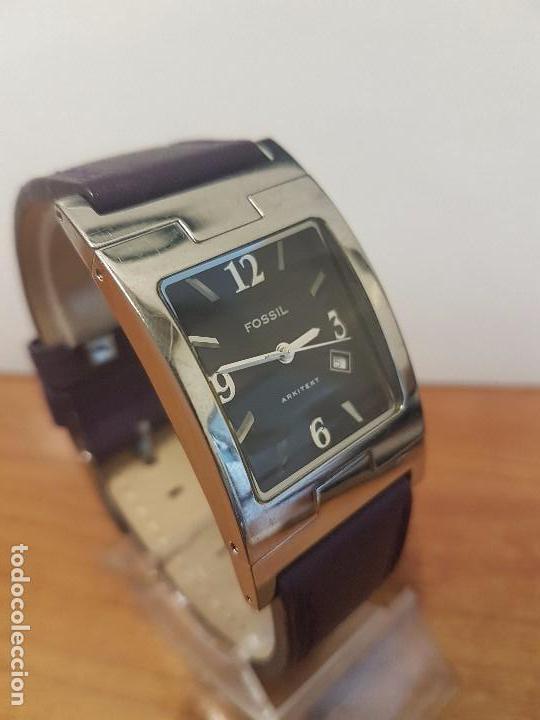 Relojes: Reloj de caballero Analógico de cuarzo marca FOSSIL con calendario a las cuatro horas, correa cuero - Foto 8 - 82120508