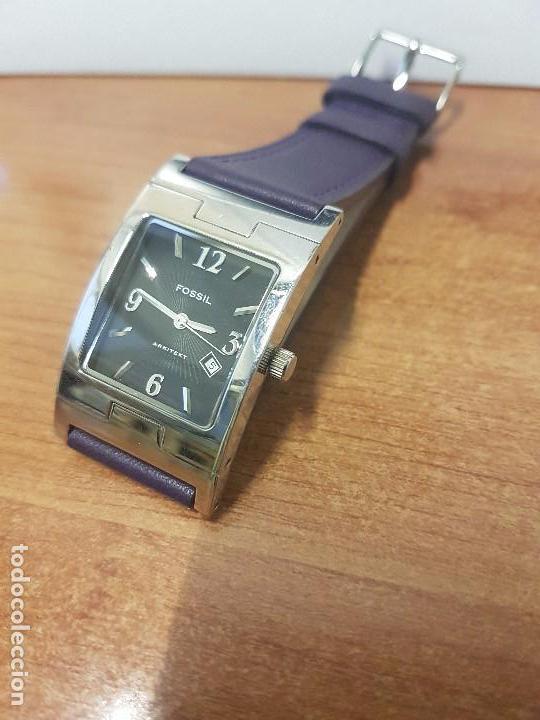 Relojes: Reloj de caballero Analógico de cuarzo marca FOSSIL con calendario a las cuatro horas, correa cuero - Foto 9 - 82120508