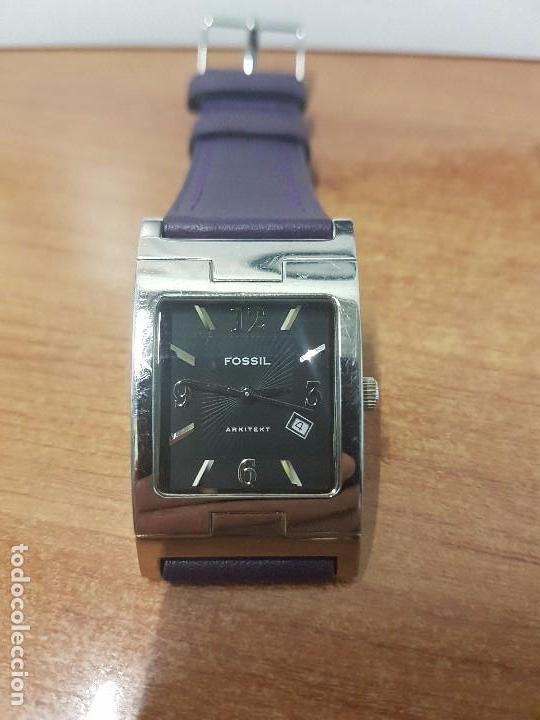 Relojes: Reloj de caballero Analógico de cuarzo marca FOSSIL con calendario a las cuatro horas, correa cuero - Foto 10 - 82120508