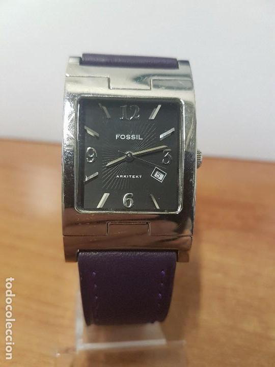 Relojes: Reloj de caballero Analógico de cuarzo marca FOSSIL con calendario a las cuatro horas, correa cuero - Foto 11 - 82120508