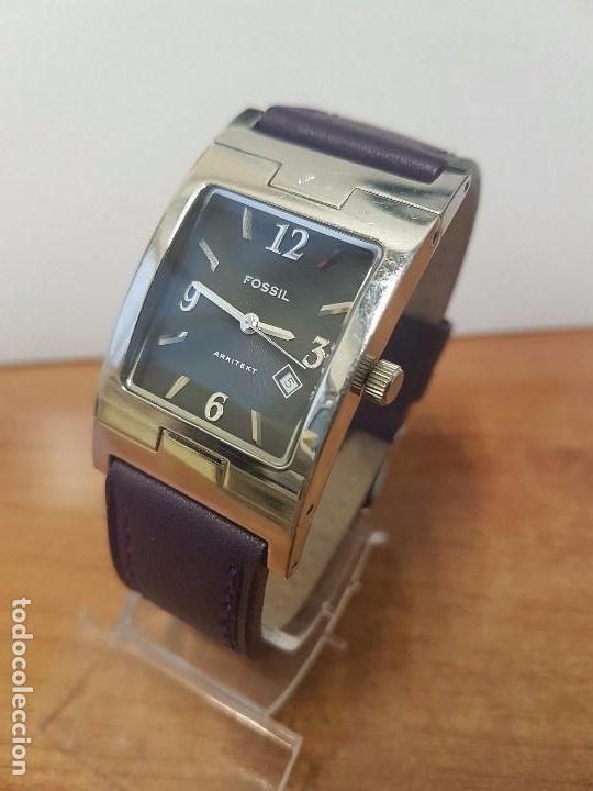 Relojes: Reloj de caballero Analógico de cuarzo marca FOSSIL con calendario a las cuatro horas, correa cuero - Foto 12 - 82120508