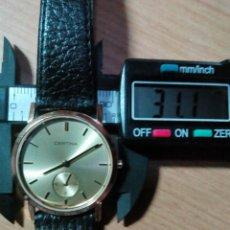 Relojes: RELOJ CERTINA QUARZT CRISTAL ZAFIRO PARA SEÑORA, CHAPADO MUY FINO PRECIOSO SWISS MADE. Lote 82516886