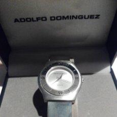 Relojes: RELOJ ADOLFO DOMINGUEZ CORREA DE ACERO. NUEVO. Lote 113602026
