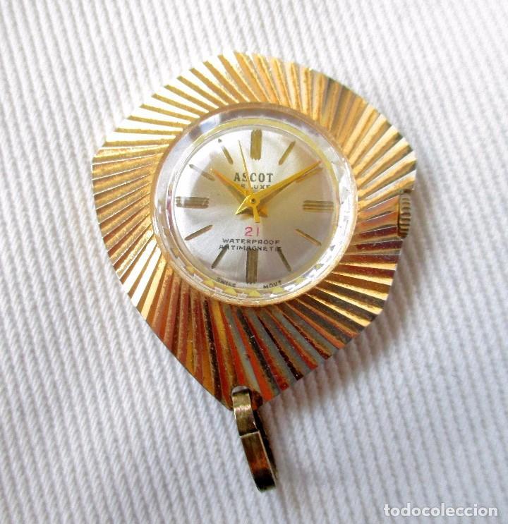 Relojes: RELOJ ASCOT DE LUXE PARA COLGAR. CARGA MANUAL. MAQUINARIA SUIZA. FUNCIONA. - Foto 2 - 83508888