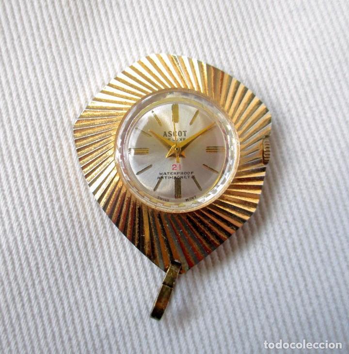 Relojes: RELOJ ASCOT DE LUXE PARA COLGAR. CARGA MANUAL. MAQUINARIA SUIZA. FUNCIONA. - Foto 6 - 83508888