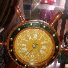 Relojes: RELOJ MARINERO ANTIGUO (TIMÓN DE BARCO).. Lote 83458528