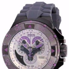 Relojes: INVICTA EXCURSIÓN RELOJ SUIZO CON CRONÓGRAFO DIAL PÚRPURA DE SILICONA GRIS W R 200 METROS $1995. Lote 84579816