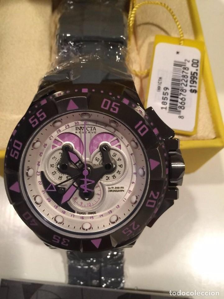 Relojes: INVICTA excursión Reloj con Cronógrafo Dial púrpura de silicona gris $1995 - Foto 2 - 84579816