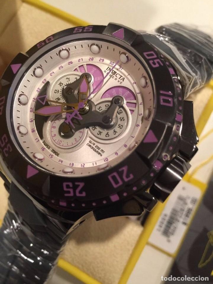 Relojes: INVICTA excursión Reloj con Cronógrafo Dial púrpura de silicona gris $1995 - Foto 3 - 84579816