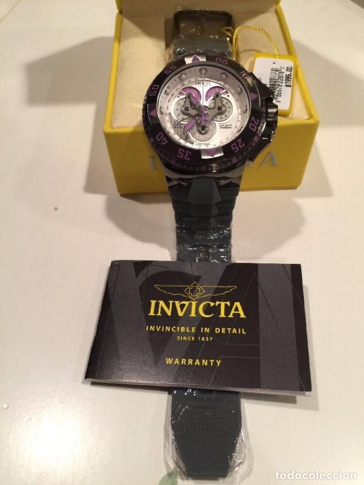 Relojes: INVICTA excursión Reloj con Cronógrafo Dial púrpura de silicona gris $1995 - Foto 4 - 84579816