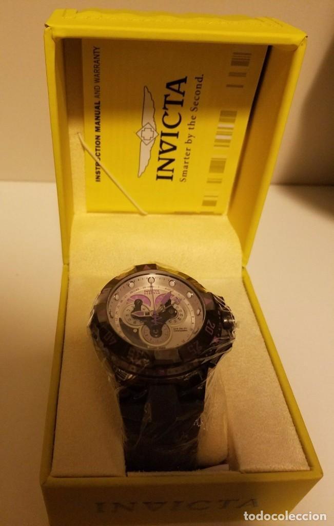 Relojes: INVICTA excursión Reloj con Cronógrafo Dial púrpura de silicona gris $1995 - Foto 7 - 84579816