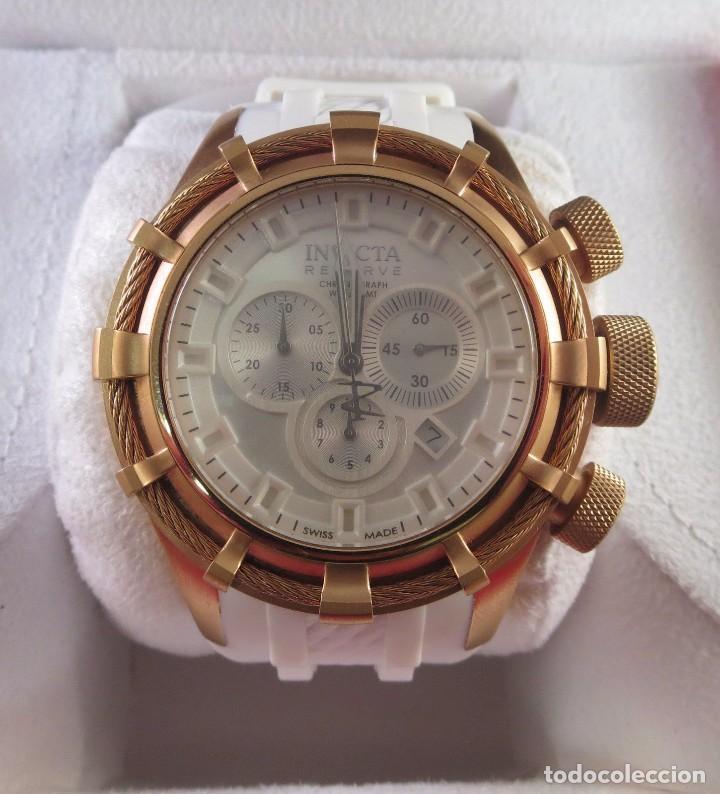 Relojes: Invicta Reserve Bolt Sport Swiss Made Quartz Chrono White 50m/m - Foto 4 - 142759341