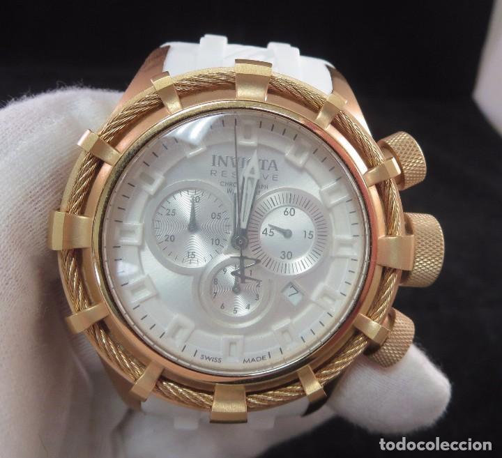 Relojes: Invicta Reserve Bolt Sport Swiss Made Quartz Chrono White 50m/m - Foto 7 - 142759341