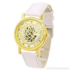 Relojes: PRECIOSO Y LUJOSO RELOJ DE ALEACION DE ORO DE ESFERA DE ESQUELETO PULSERA BLANCA - SHSHD Nº7. Lote 86792024