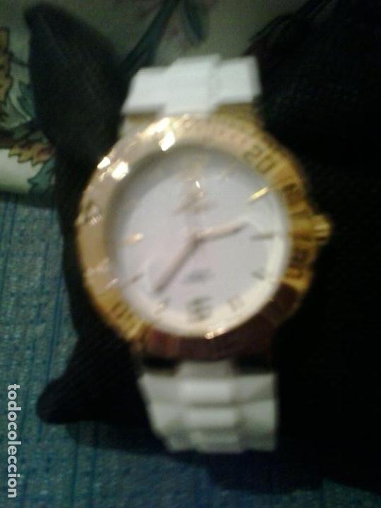 57b9f9db9 Relojes: Reloj Marea unisex dorado analogico ,correa caucho .cierre dorado  .Nuevo -