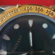 Relojes: ELEGANTE RELOJ RADIANT DE CABALLERO. CHAPADO EN ORO DIAL VERDE. BISEL DORADO TAQUIMETRO.NOS NUEVO. Lote 87204108