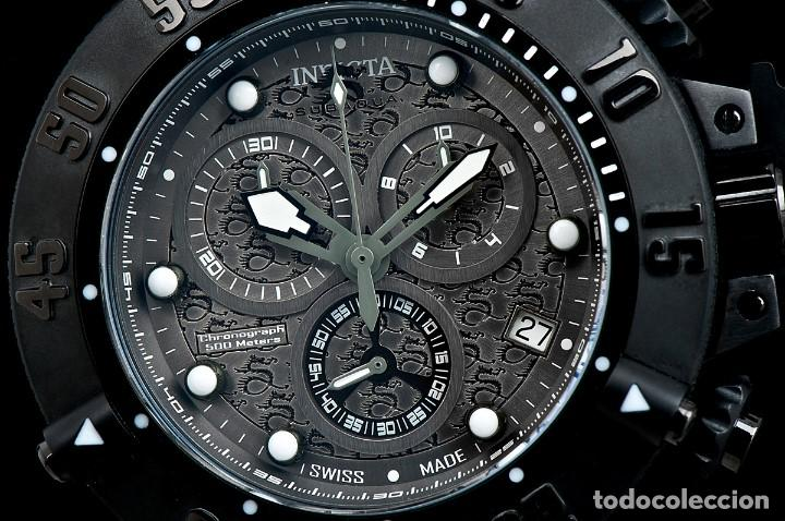 Relojes: Invicta Subaqua Swiss Made Quartz Chronograph Grey Black Dial $1995 impermeable 500 metros - Foto 2 - 88498772