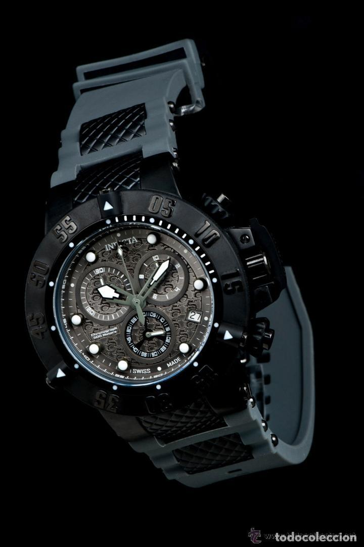 Relojes: Invicta Subaqua Swiss Made Quartz Chronograph Grey Black Dial $1995 impermeable 500 metros - Foto 10 - 88498772